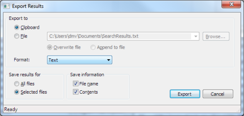 Export sm Windows 7 Search Alternative