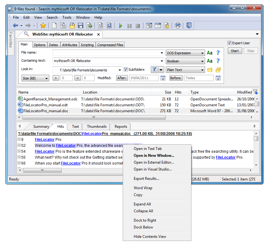 ScreenShot 7 FileLocator Pro 6.0.1228 (x86/x64) full + serial 1 link